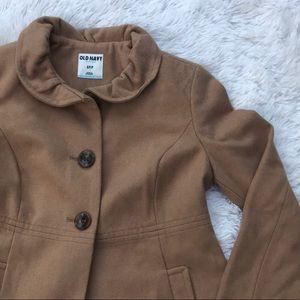 O ld Navy • Ruffle Collar Pea Coat • Small • NWOT